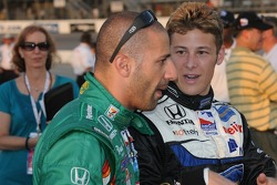 Tony Kanaan and Marco Andretti talking