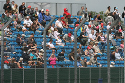 Crowd in the grandstand