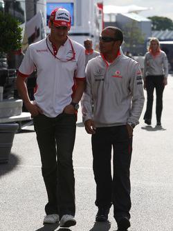 Lewis Hamilton, McLaren Mercedes and Adrian Sutil, Force India F1 Team