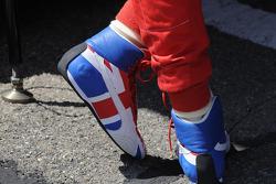 Dan Wheldon's Union Jack shoes