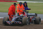 David Coulthard, Red Bull Racing, RB4 and Sebastian Vettel, Scuderia Toro Rosso, STR03 crash