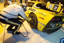Corvette Racing team member at work