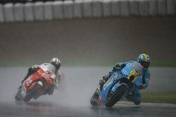 Loris Capirossi and Sylvain Guintoli