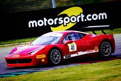 #41 AF Corse Ferrari 458: Frederic Jean Marie Fangio with Motorsport.com signage