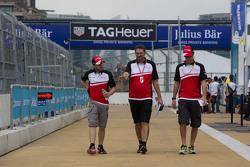 Nick Heidfeld, Mahindra Racing and Bruno Senna, Mahindra Racing