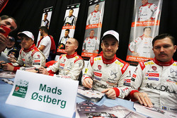 Mads Ostberg and Jonas Andersson with Kris Meeke and Paul Nagle, Citroën World Rally Team