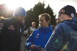 Fabrice Van Ertvelde, Volkswagen Motorsport Chief Engineer with Jari-Matti Latvala, Volkswagen Motorsport