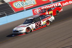 Brad Keselowski, Team Penske Ford and Landon Cassill, JD Motorsports Chevrolet