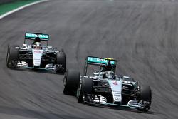Nico Rosberg, Mercedes AMG F1 Team en Lewis Hamilton, Mercedes AMG F1 Team