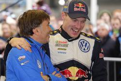 Jost Capito, Director Volkswagen Motorsport with Jari-Matti Latvala, Volkswagen Motorsport