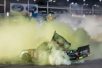 NASCAR Truck Photos - NASCAR Camping World Truck Series 2015 champion Erik Jones, Kyle Busch Motorsports celebrates