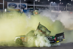 NASCAR Camping World Truck Series 2015 champion Erik Jones, Kyle Busch Motorsports celebrates