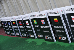 Driver name placards