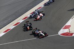 Arthur Pic, Campos Racing leads Raffaele Marciello, Trident and Nicholas Latifi, MP Motorsport