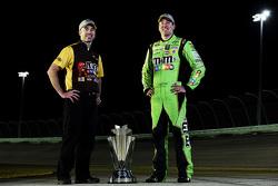 NASCAR Sprint Cup Series champion Kyle Busch with crew chief Adam Stevens