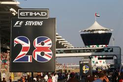 Gridbord Will Stevens, Manor Marussia F1 Team