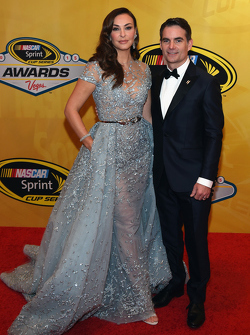 Jeff Gordon, Hendrick Motorsports Chevrolet with wife Ingrid