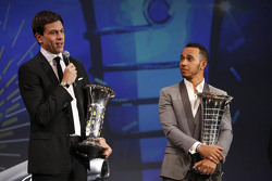 Lewis Hamilton, Mercedes AMG F1, Toto Wolff, Mercedes AMG F1 Shareholder and Executive Director