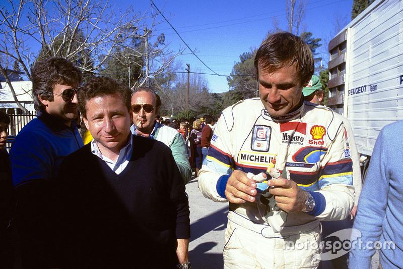 Jean Todt, head of Peugeot Sport and Carlos Reutemann