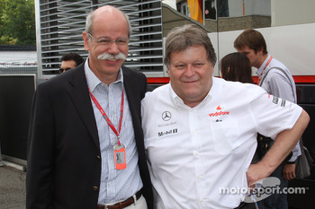 Dr. Dieter Zetsche, Chairman of Daimler and Norbert Haug, Mercedes, Motorsport chief