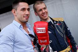 Felix Sturm, Boxer and Sebastian Vettel, Scuderia Toro Rosso