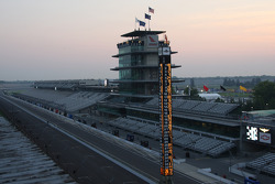 The historical pagoda on Allstate 400 At The Brickyard race day morning