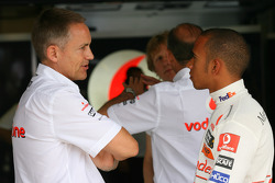 Lewis Hamilton, McLaren Mercedes and Martin Whitmarsh, McLaren, Chief Executive Officer- Formula 1 World Championship, Rd 11, Hungarian Grand Prix, Friday Practice