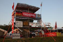 Race fans campsite