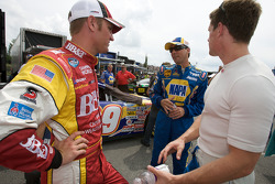 Clint Bowyer, David Reutimann and Carl Edwards