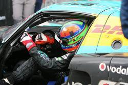 Race winner Eric Van de Poele