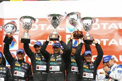 GT1 podium: class and overall winners Andrea Bertolini, Michael Bartels, Stéphane Sarrazin and Eric Van de Poele