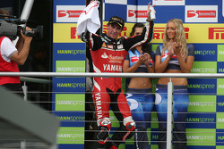 Troy Corser on the podium