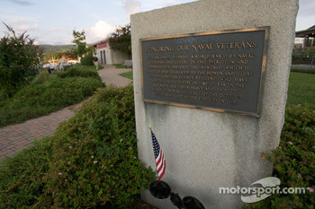 A memorial in the Watkins Glen marina