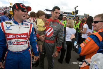 Marcos Ambrose, Max Papis and Jeff Burton