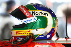 Craig Lowndes's helmet (TeamVodafone Ford Falcons BF)