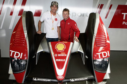 Allan McNish with Sven Hannawald