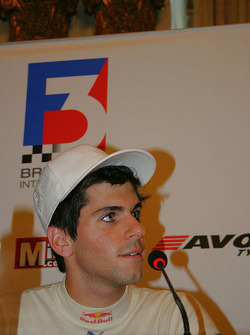 Jaime Alguersuari at the press conference