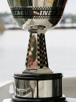 IndyCar Series 2008 contenders photoshoot: the Indy Racing League Championship trophy