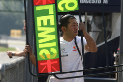 McLaren Mercedes team member