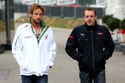 Jenson Button, Honda Racing F1 Team and Sébastien Bourdais, Scuderia Toro Rosso