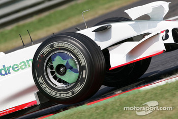 Jenson Button, Honda Racing F1 Team, RA108, White Tyre Wall