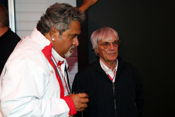 Vijay Mallya, Force India F1 Team, Owner and Kingfisher CEO with Bernie Ecclestone, President and CEO of Formula One Management
