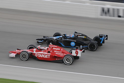 Scott Dixon and Danica Patrick run together