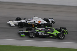 Graham Rahal and Ernesto VIso run together