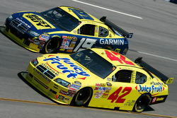 Juan Pablo Montoya and Elliott Sadler