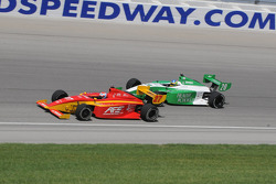 The start of the Indy Lights race