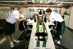 Riccardo Patrese in the Honda RA107