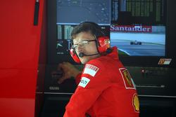 Chris Dyer, Scuderia Ferrari, Track Engineer of Kimi Raikkonen