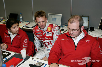 Leena Gade, Allan McNish and Howden Haynes