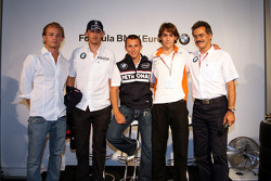 BBQ at FBMW Hospitality: Nico Rosberg, WilliamsF1 Team, Robert Kubica,  BMW Sauber F1 Team Christian Klien, Test Driver, BMW Sauber F1 Team, Esteban Gutierrez, Josef-Kaufmann-Racing, Dr. Mario Theissen, BMW Sauber F1 Team, BMW Motorsport Director